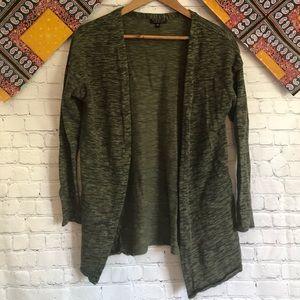 Topshop knit army green cardigan